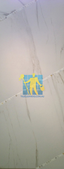 large porcelain tile reminiscent of calacutta marble tile durable rectified versatile Adelaide
