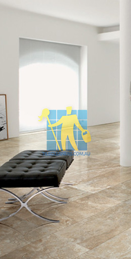 modern living room with textured rectangular porcelain tiles on floor Adelaide