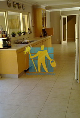 porcelain tiles floor inside furnished home after cleaning kitchen floors Adelaide