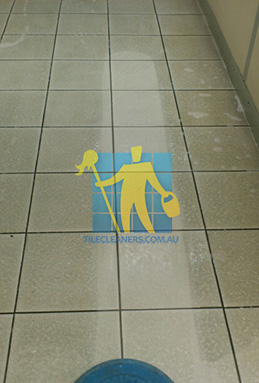 porcelain tiles with before after cleaning with sx12 machine showing dirty and clean tiles Adelaide