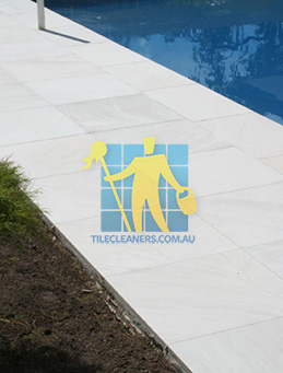 outdoor sandstone tile pool paving snow white Adelaide