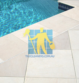 outdoor sandstone tile pool snow white Adelaide