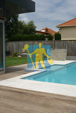outdoor sandstone tiles pool coping snow white Adelaide