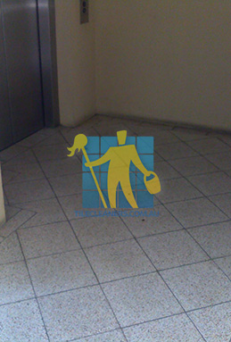 terrazzo tiles dirty floor entrance lift Tranmere